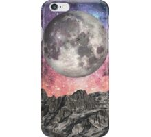 Moon Over Mountain Lake iPhone Case/Skin