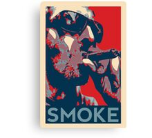 Smoke - Guy with cigar obama style poster graphic Canvas Print