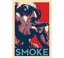 Smoke - Guy with cigar obama style poster graphic Photographic Print