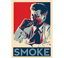 Smoke - Kennedy with cigar obama style poster graphic Photographic Print