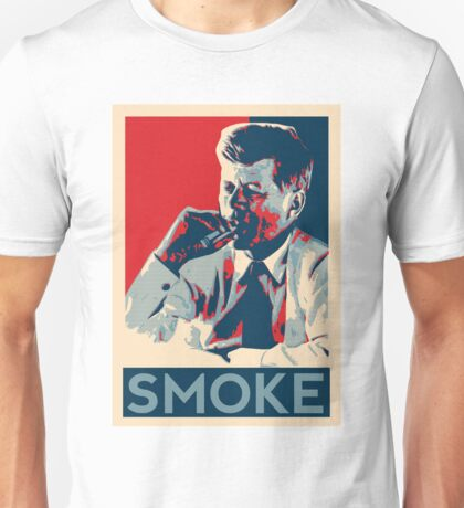 Smoke - Kennedy with cigar obama style poster graphic Unisex T-Shirt