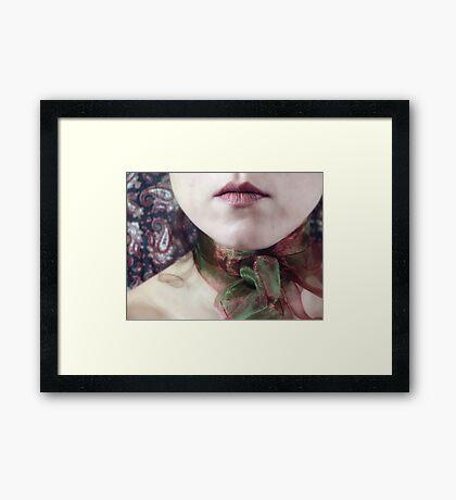 ~ christmas ribbon ~ Framed Print