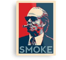 Smoke - Nicholson with cigar obama style poster graphic Metal Print