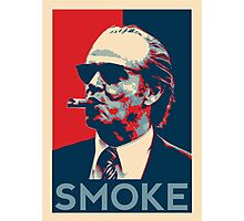 Smoke - Nicholson with cigar obama style poster graphic Photographic Print