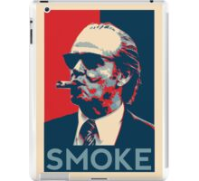 Smoke - Nicholson with cigar obama style poster graphic iPad Case/Skin