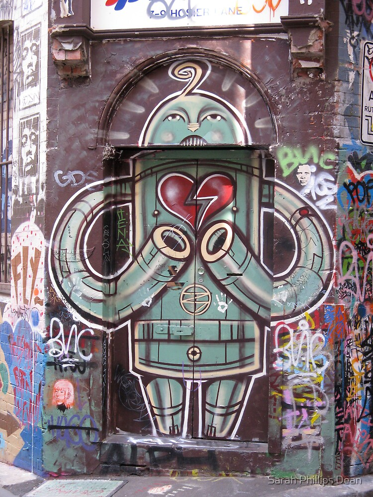 Robot with heart by Sarah Dean