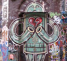 Robot with heart by Sarah Phillips Dean