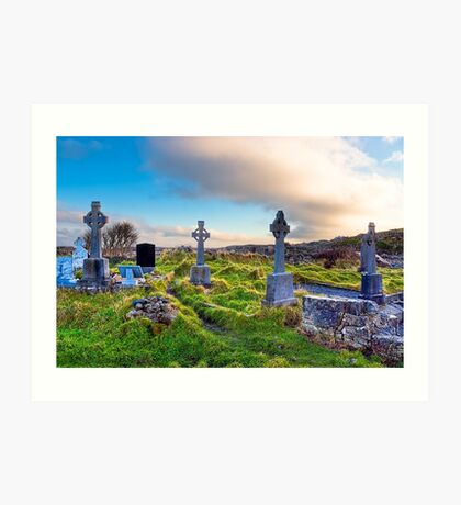 Celtic Crosses of the Aran Islands Art Print