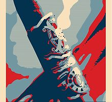 Smoke - cigar obama style poster graphic by Neal Wollenberg