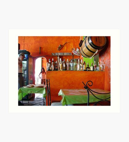 Rhum Bar in Choroni Art Print