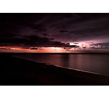 Storm in Exmouth Photographic Print