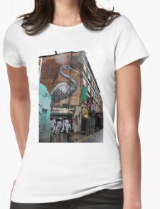 Roa - Crane (Urban Wildlife) Womens Fitted T-Shirt