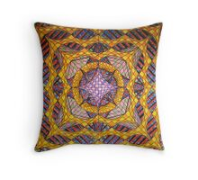 8 Trapped Layers Throw Pillow