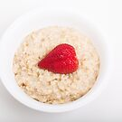 Strawberry Heart in Oatmeal by dbvirago