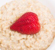 Strawberry Heart in Oatmeal Sticker