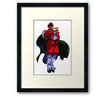 The only Final Boss - M Bison Framed Print