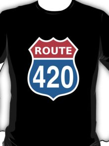 Route 420 Red Blue White US highway sign T-Shirt