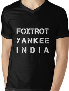 NATO Phonetic Alphabet - FYI - Foxtrot, Yankee, India Mens V-Neck T-Shirt