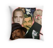famous funny/hiphop/obama/horror Throw Pillow