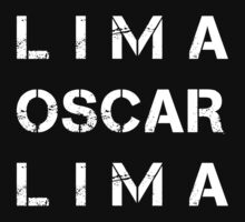 NATO Phonetic Alphabet - LOL - Lima Oscar Lima by Neal Wollenberg
