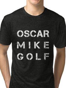 NATO Phonetic Alphabet - OMG - Oscar Mike Golf Tri-blend T-Shirt