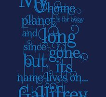 My Home Planet - Typographical by ifourdezign