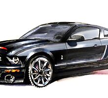 Knight Rider 2008 GT500KR by crayonbreaking