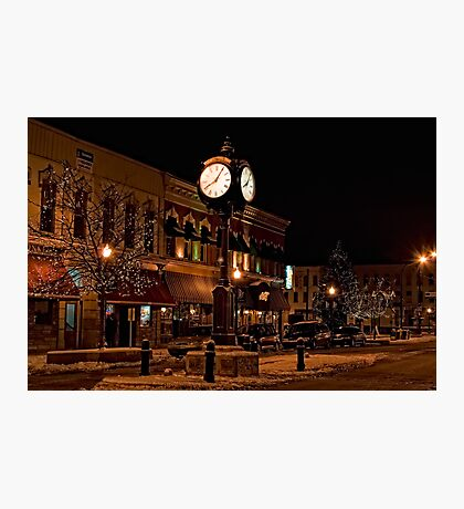 Small Town America Town Square Photographic Print