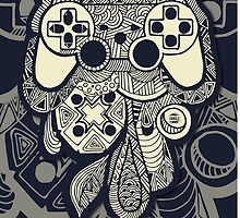 Games Console Zentangle Colour by Tangldltd