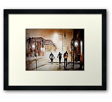 Britain's cold night in warm colors. Framed Print