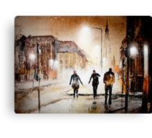 Britain's cold night in warm colors. Canvas Print