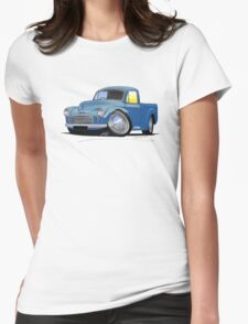 Morris Minor Pick Up Blue Womens Fitted T-Shirt