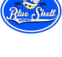 Blue Shell auto parts by edcarj82