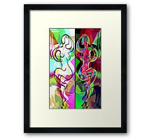 Ta Dance By Light An Night Framed Print