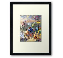 Beauty and the Beast - All Characters Cool Framed Print