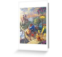Beauty and the Beast - All Characters Cool Greeting Card