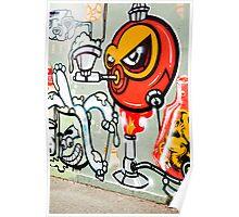 fitzroy graffiti Poster