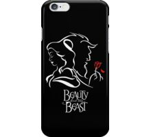 Beauty and the Beast - Belle, the Beast and the Rose iPhone Case/Skin