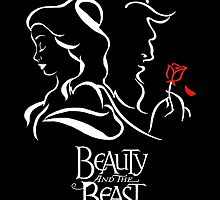 Beauty and the Beast - Belle, the Beast and the Rose by TylerMellark