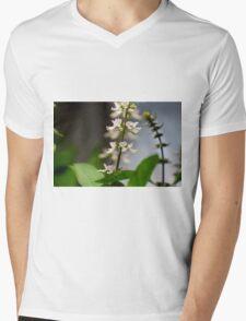 Basil Blossom Mens V-Neck T-Shirt
