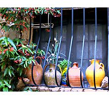 Pottery on Sill Photographic Print