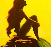 The Little Mermaid Disney - Ariel and the Moon Sticker