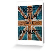 Keep Calm and Namaste Greeting Card