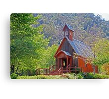 Chapel In The Woods Canvas Print