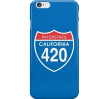 California 420 Day US Interstate Highway Sign iPhone Case/Skin