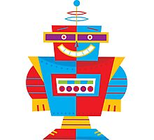 Robot Illustration Photographic Print