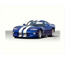 Dodge Viper GTS Art Print