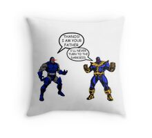 Join the Darkseid Thanos! Throw Pillow