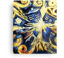 Doctor Who - Tardis Exploding by Van Gogh Metal Print