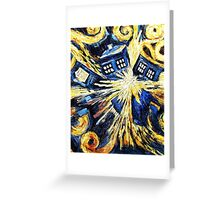 Doctor Who - Tardis Exploding by Van Gogh Greeting Card